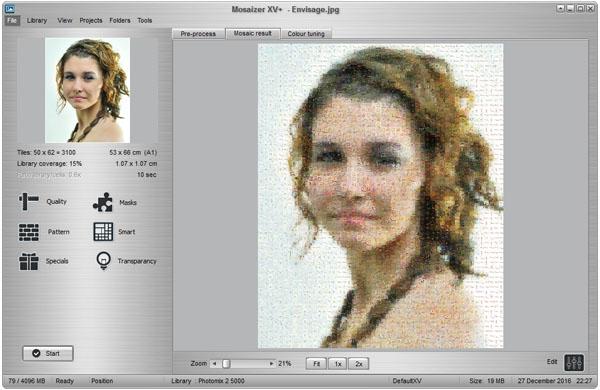 Click to view Mosaizer XV 15.0 screenshot