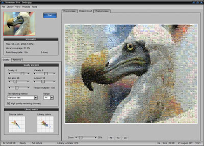 mosaizer, photo paint, alpha masks, mosaics, creativity tool, fun, graphic FX, p